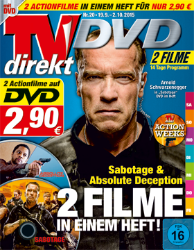 TVdirekt Cover - Spielfilm Highlight auf DVD: Sabotage & Absolute Deception (2 Filme auf DVD) <br/><br/> Sabotage
