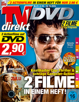 TVdirekt Cover - Spielfilm Highlight auf DVD: Zulu & Guns and Girls (2 Filme auf DVD) <br/><br/> Zulu