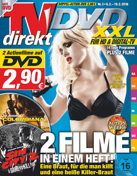 TVdirekt Cover - Spielfilm Highlight auf DVD: Sin City 2 – A Dame to Kill for & Colombiana (2 Filme auf DVD) <br/><br/> Sin City 2 – A Dame to Kill for